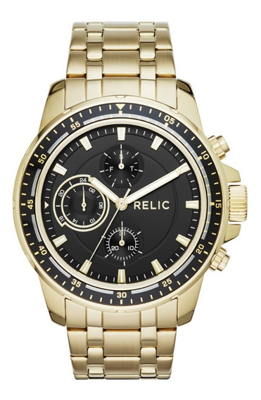 Reloj Caballero Relic Heath Zr15834 Color Dorado