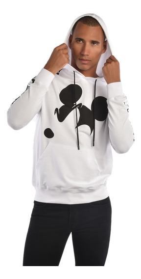 Sudadera American Level Mickey Mouse Blanco Hombre