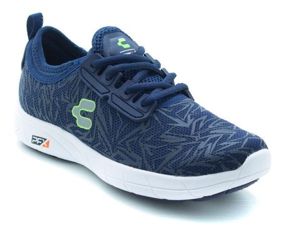 Tenis Sport Walking Pfx Charly 1029224 Marino Plata Original