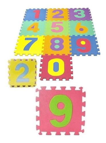 Tapetes Tatame Infantil Eva Números 10 Peças 7mm