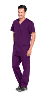 Conjunto Uniforme Médico Quirúrgico Caballero Vino-morado
