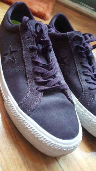 Zapatillas Converse One Star Cuero - Black Cherry - Usadas