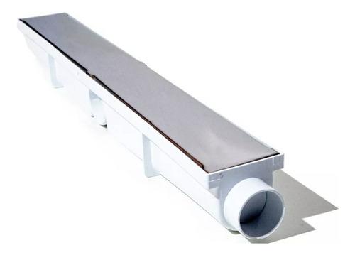 Ralo Linear Seca Box  6x50 Inox Oculto Invisível Sifonado