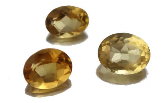 Lote 3 Pedras Preciosa Topázio Natural Oval Joia Anel J19431