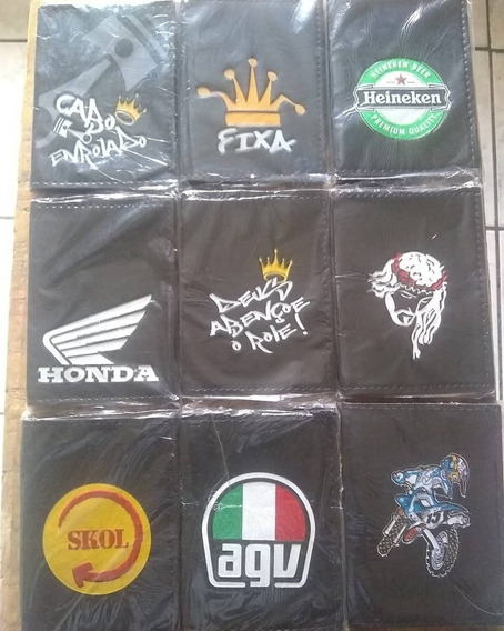 Kit 100 Carteiras Porta Documentos Motociclista