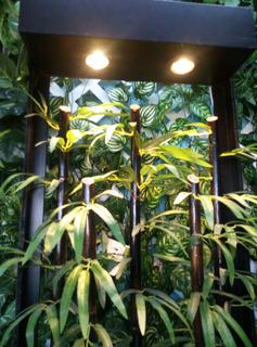 Planta Bambu Artificial En Mueble Decorativo