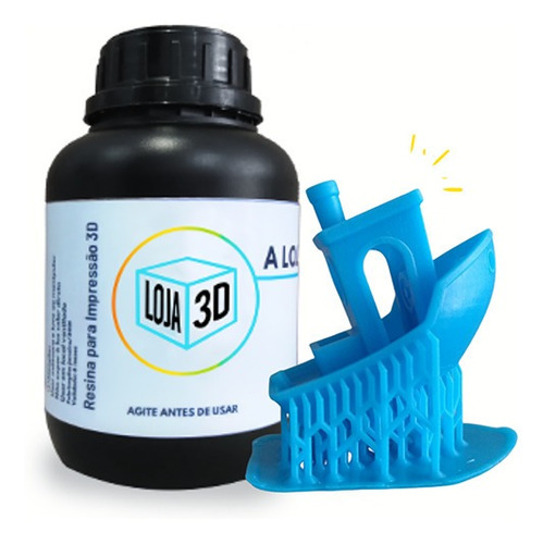 Resina Pro - Azul - Dental - Loja 3d - Dlp/lcd - 500 Ml