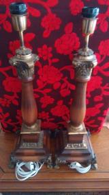 2 Abajoures Bronze/cerejeira Smart, Controlados Por Celular.