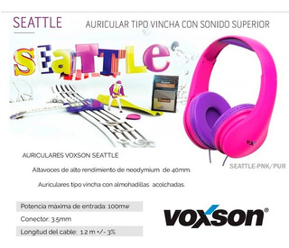 Auriculares Voxson Seattle