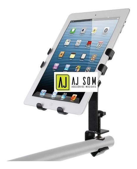 Suporte Reforçado P/ Tablet iPad Em Pedestal De Microfone