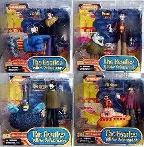 Lote 4 Muñecos Beatles Yellow Submarine Mcfarlane Nuevos!!!