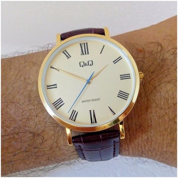Relógio Masculino Qq 117y Original Slim Luxo Executivo Vip