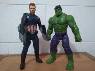 Capitan America Y Hulk Infinity War Titan Hero Pack X2