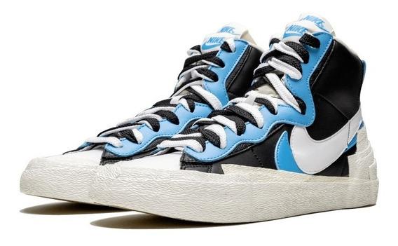 Tenis Nike Blazer Mid Sacai Azul Casual Off-white Fog 43
