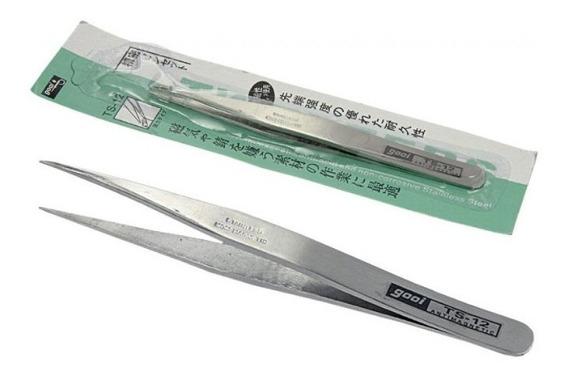 1un Pinça Anti-estatica Gooi Ts-12- Reta Extra Fina 115mm