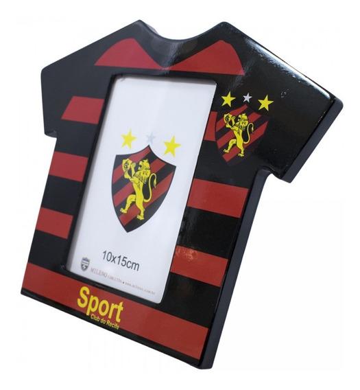 Porta Retrato Camisa De Futebol Foto 10x15cm Sport Recife
