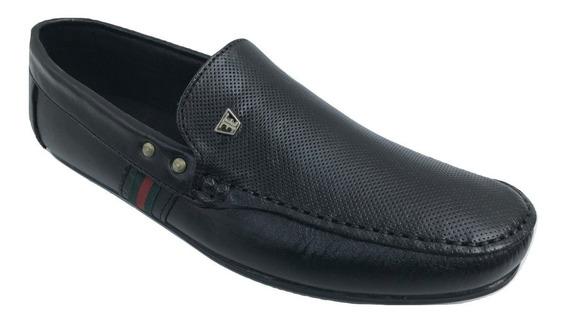 Zapato Casual Mocasin Elegancy 931 Hombre Piel Negro