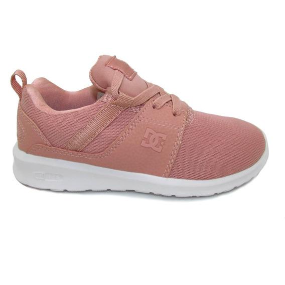 Tenis Dc Shoes Youth Heathrow Adgs700020 Ppf Peach Parfait