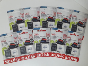 Kit 10 Mem Micro Sd 16gb Ultra C10/sdsquns-016g-gn3ma 80mb/s