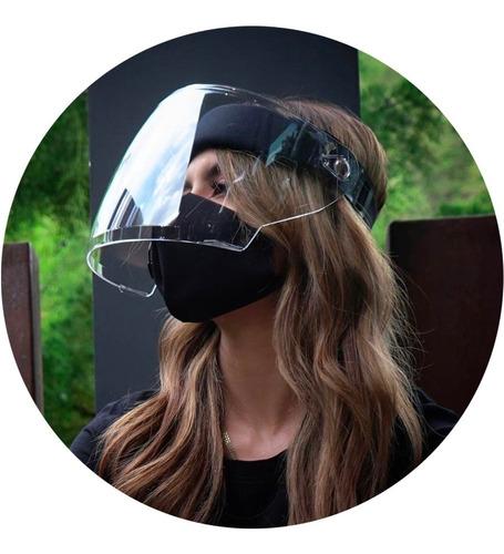 Máscara Facial Abatible Acrílico Antifluidos Careta Protecci