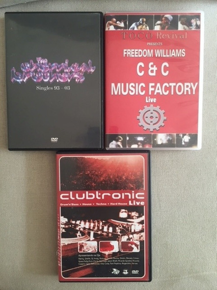3 Dvds - Chemichal Brothers / C+c Music Factory / Clubtronic