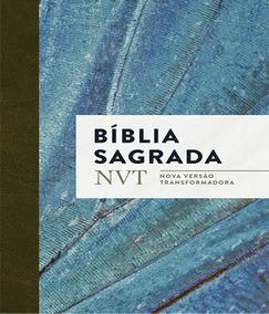 Biblia Sagrada Nvt - Azul Claro - Letra Normal/brochura