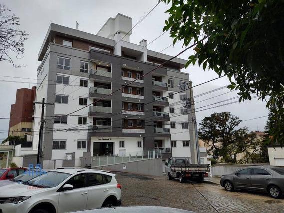 Amplo Apartamento Novo 2 Dormitórios (1 Suíte) Sac Churr Carvão, Persianas Splitz, Gás Central, A 100m Da Lauro Linhares Na Trindade - Ap2754