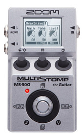 Zoom Pedal P/ Guitarra Multi-efeitos Stompbox Ms-50g Reverb