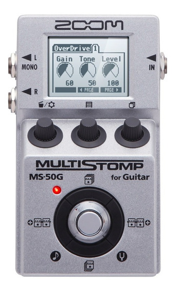 Zoom Pedal P/ Guitarra Multi-efeitos Stompbox Ms-50g Reverb
