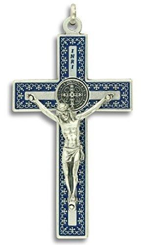 Unique St Medalla De San Benito Cruz Crucifijo Collar 3 CoLG