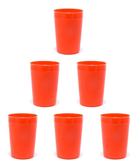 Vaso Plastico No Descartable Economico Varios Colores X10