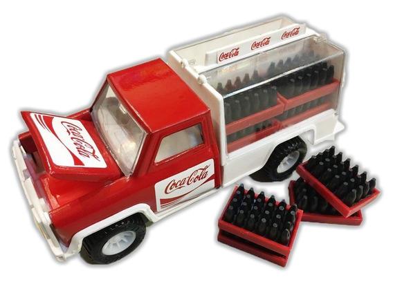 Antigua Pick-up Coca Cola Metal Con Cajones De Botellas Arg.