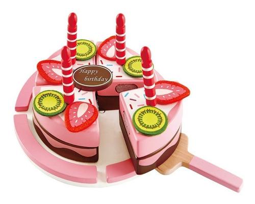 Torta Cumpleaños Juguete Didáctico Madera Hape E3140 Edu