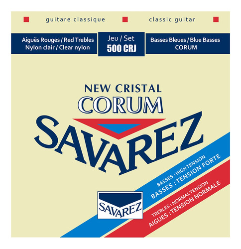 Encordado Cuerdas Guitarra Clasica Savarez Cristal Corum