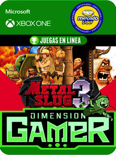 Metal Slug 3 - Xbox One Modo Local + En Linea