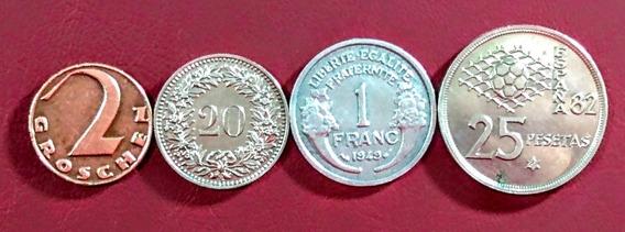 Monedas De Europa 10 Suiza Y Otros Países