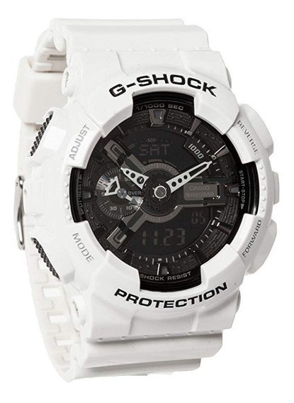Relógio Casio G-shock 100% Original Ga-110gw-7adr Masculino Digital Analógico Branco Adulto À Prova D
