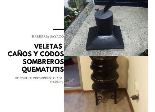 Veletas, Campanas Y Caños A Medida --olvídate Del Humo !!!!!
