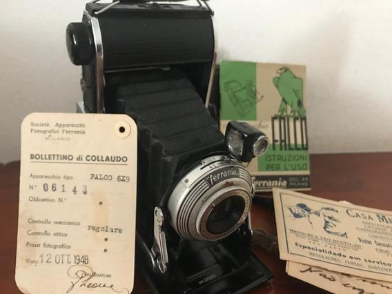 Maquina Fotográfica Antiga Ferrania Italiana De Fole