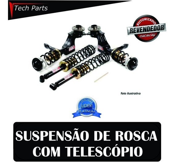 Kit Suspensão Regulável Rosca Macaulay Gol G3 1.0 Turbo