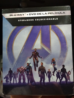Marvel Avengers Endgame Steelbook Blu Ray Dvd Nueva Sellada
