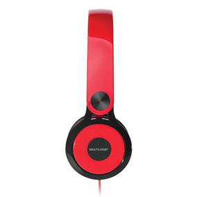 Headphone Multilaser Smartphone E Pc Ph083 - Vermelho/preto