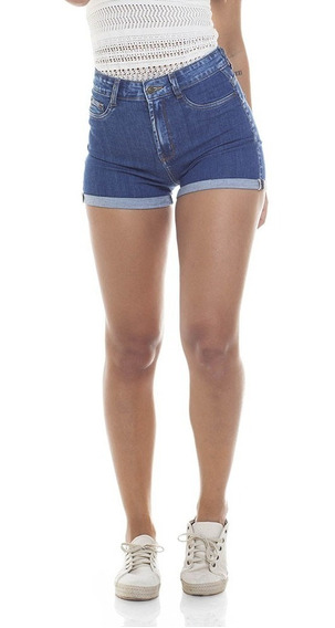 Shorts Feminino Pin Up Barra Dobra Denim Zero-dz6268