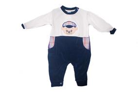Macacão Infantil Plush - Baby Bee-azul-marinho-rn