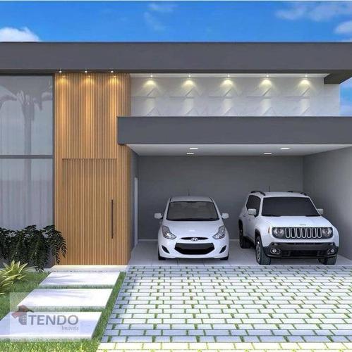 Casa Com 3 Dormitórios À Venda, 190 M² Por R$ 1.270.000,00 - Condomínio Maria José - Indaiatuba/sp - Ca0591