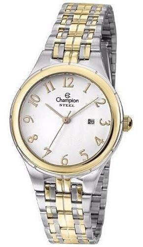 Relógio Feminino Champion Bicolor Com Calendário Cs28389b