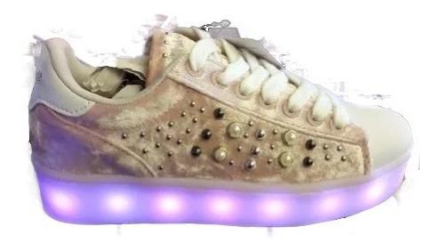 Zapatillas Con Luz Led Y Plataforma Peluche Addnice