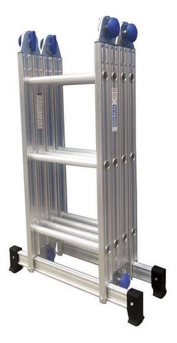 Escada Articulada Alumínio 3x4 12 Degrau Multifuncional Real