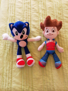 Ryder Paw Patrol + Sonic Boom Peluches