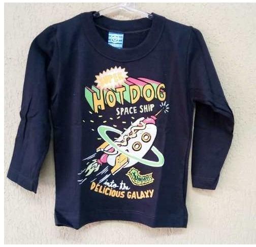 Camiseta Infantil Manga Longa Inverno Frio Moda Bebe